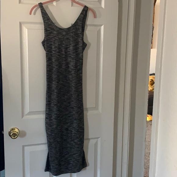 Express Dresses & Skirts - Grey and black cutout dress